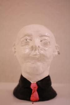 The Worker Of The Month. Painted plasticine bust, 264mm x 121mm x 152mm // 2013